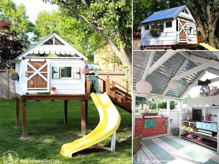 modern playhouse kits   Kids playhouses outdoor, kids wooden playhouse small ...