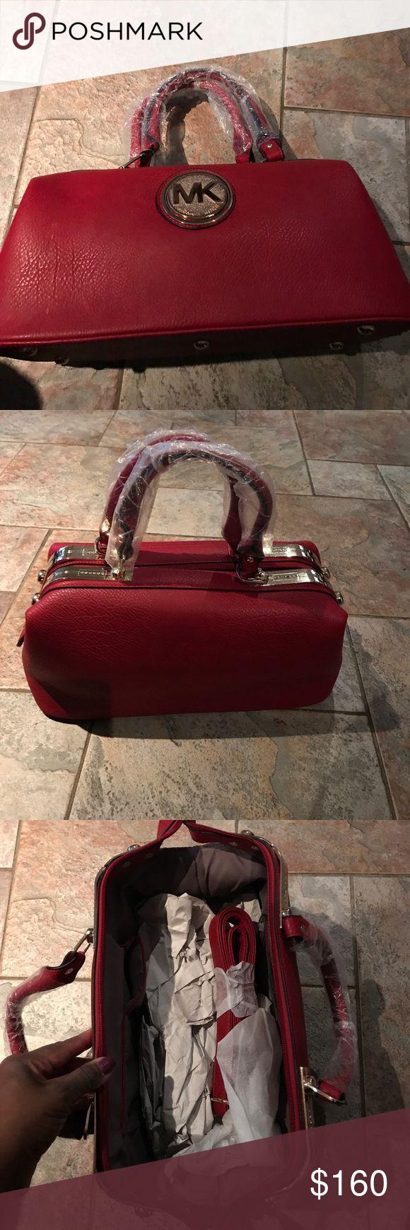 Michael Kors Red Handbag -NWOT Brand new Michael Kors red handbag. Michael Kors Bags