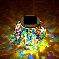 #Banggood Сад солнечной мозаики сила стеклянный шар красочный LED свет на открытом воздухе водонепроницаемый светильник украшения (1084579) #SuperDeals