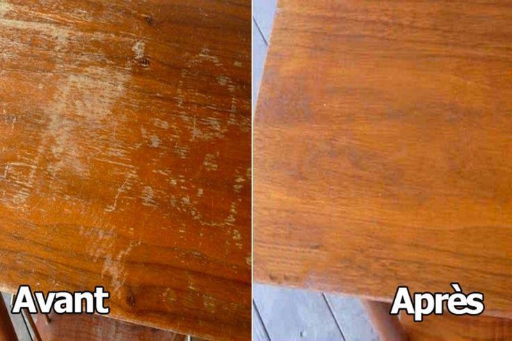 Voyez comment réparer les imperfections d'une meuble en bois!