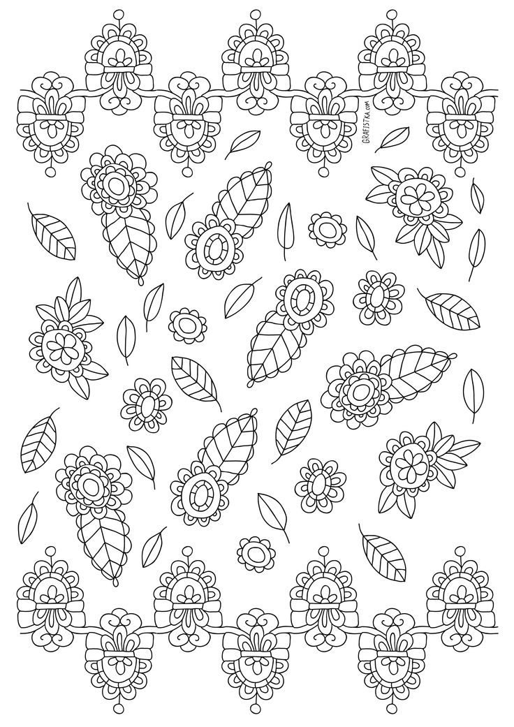 whimsical flower coloring pages - photo#21