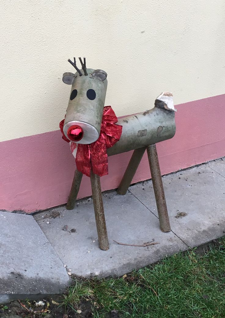 Vánoční Rudolf ze dřeva / Wooden Christmas Rudolph