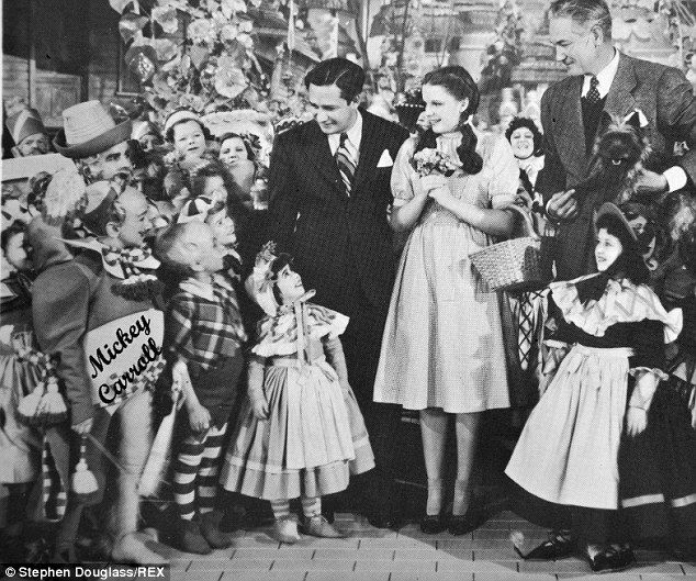 Mickey Carroll in the 'Wizard of Oz' (captioned on the pictured) Carroll was 18 when he ap...