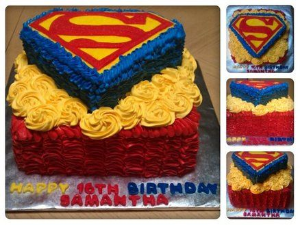 Awesome Superman Baby Shower/ Birthday Cake