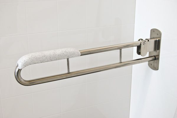 Drop Down Grab Bar With Padding Universal Design Bathrooms And Finishes Pinterest Grab