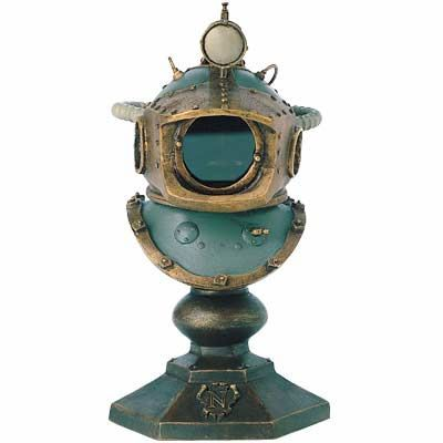 Captain Nemo's Diving Helmet Miniature Replica - Jules Verne - 20,000 Leagues Under the Sea.