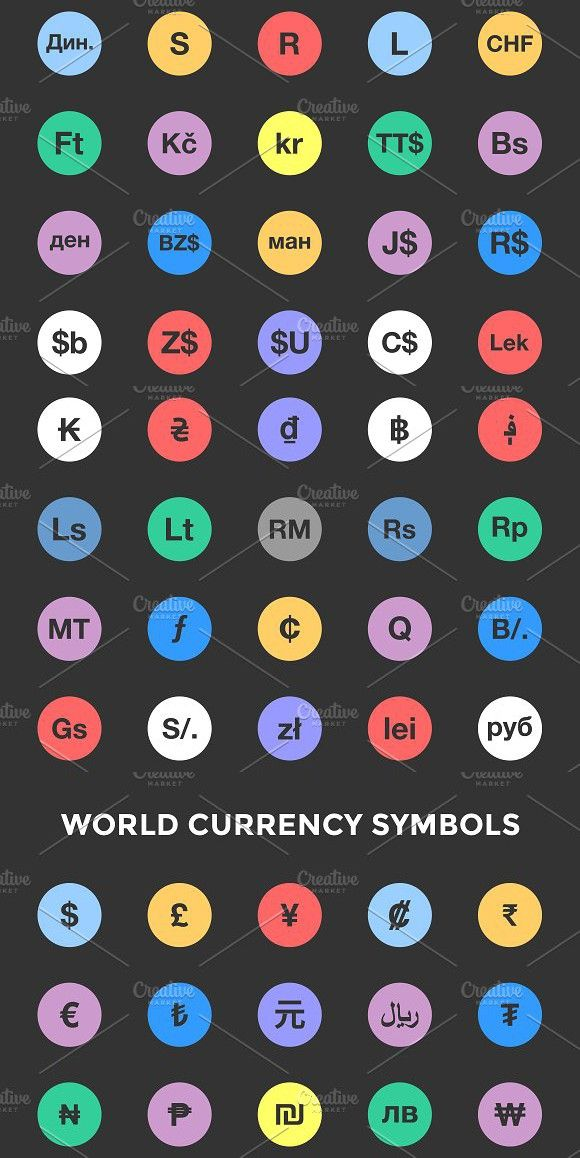 World Currency Symbols / Icons #worldcurrencysymbols #currencies