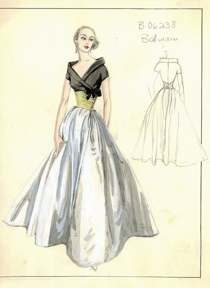 Buy the dress . . . the party will come.  Bergdorf Goodman Archives. Cocktail & Evening Dresses 1950-69