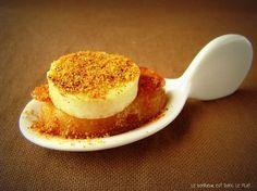 Cuillères pommes, boudin blanc pané pain d'épices                                                                                                                                                     Mehr