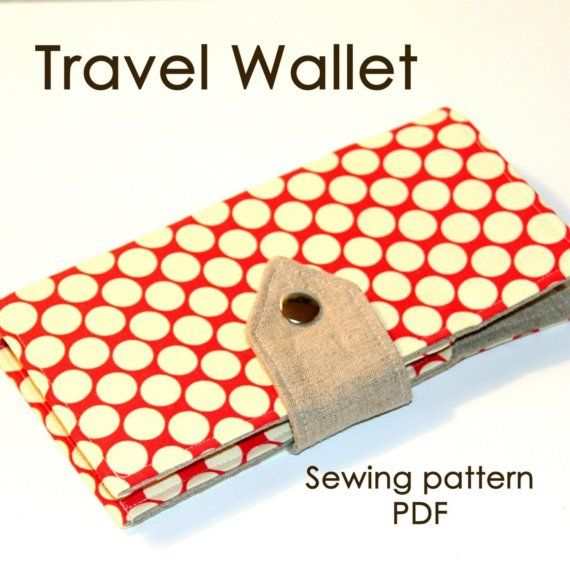 Travel Wallet pattern...my new old sewing machine might be busy this fall!