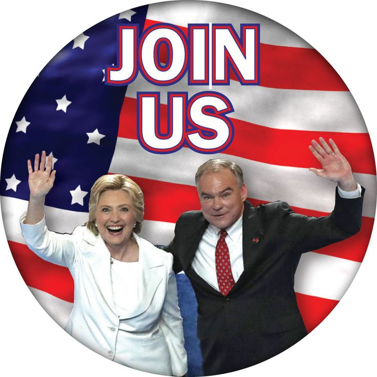 """HILLARY CLINTON Join Us 3"""" CAMPAIGN Pin Back Button Presidential Candidate 2016 by Badgelady117 on Etsy"""