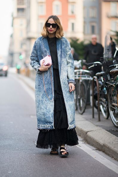 Candela Novembre seen during Milan Fashion Week Fall/Winter 2017/18 on February 22 2017 in Milan Italy #MFW #FW17 #StreetStyle