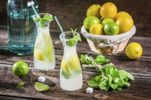 Zitronenlimo für flachen Bauch