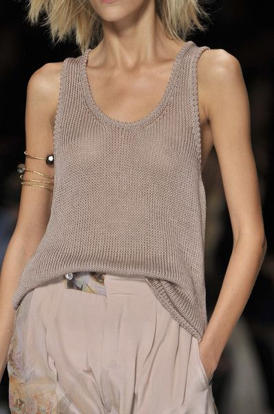 Loose Flowy Knitted Tank Top | Etro Spring 2010
