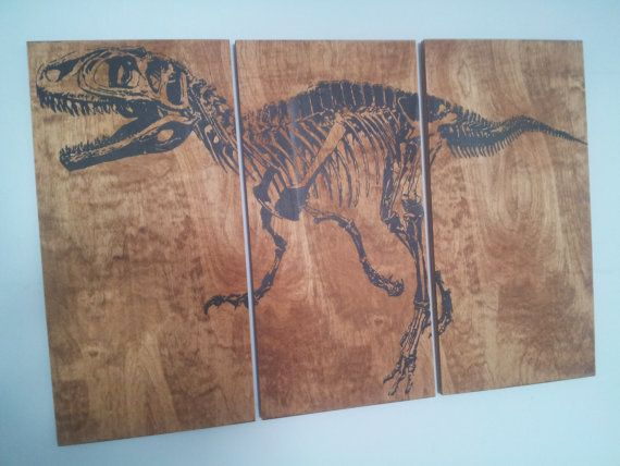 Fossil Velociraptor DINOSAUR SKELETON  Screen by CedarWorkshop... Think this might have to be an addition to my future movie room...