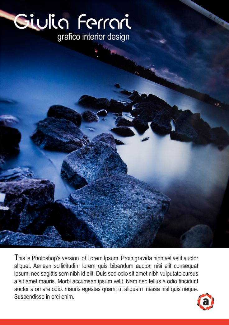 brochure package _ esercizio numero di photoshop - per imparare e inserire e testo e immagini.