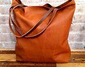 Большой верблюд коричневый кожаный сумка - большая коричневая кожа сумка - большой кожаный мешок - гибким коричневый кожаный тотализатор