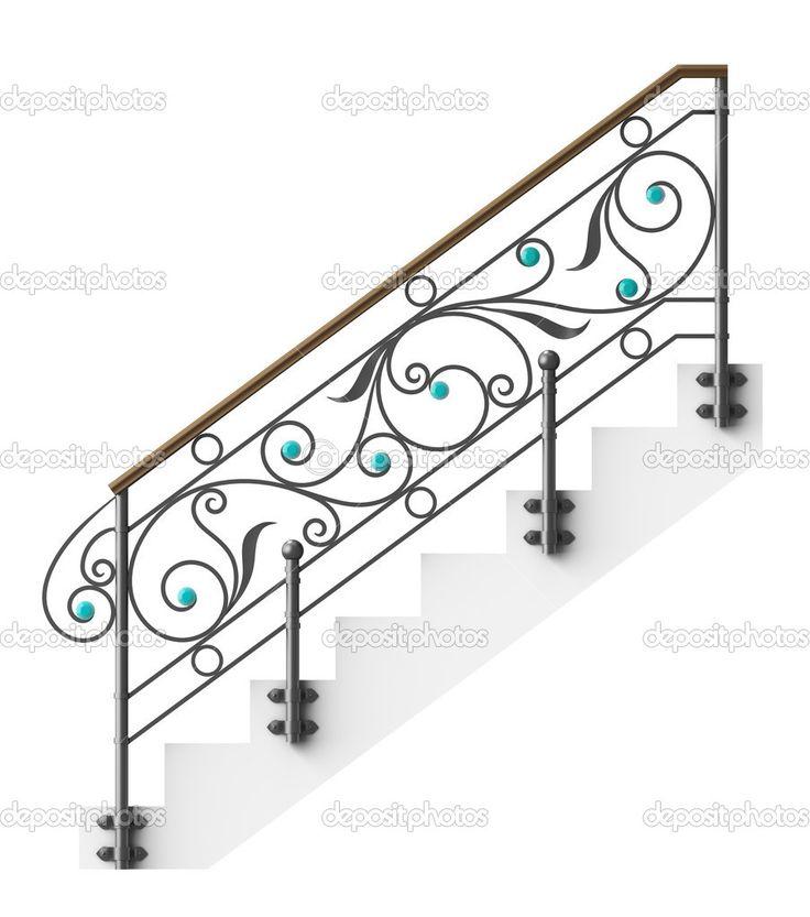corrimão de escada de ferro forjado — Foto Stock © EgorovaJulia7 #