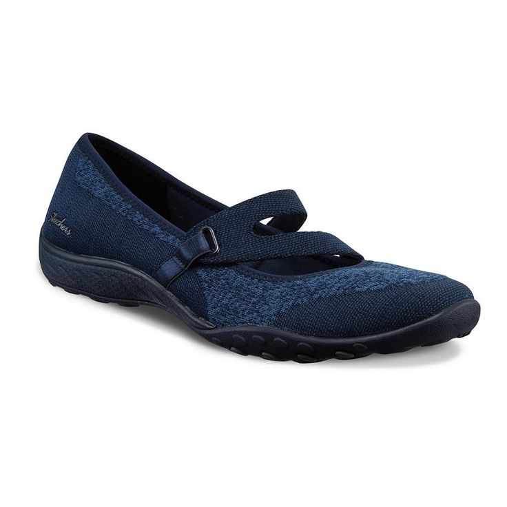 Skechers Relaxed Fit Breathe Easy Lucky Lady Women's Mary Jane Shoes, Size: 6.5, Blue (Navy)