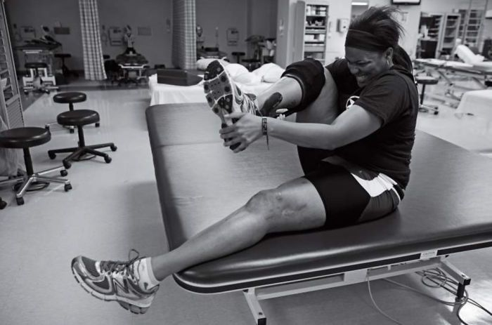 Army Specialist Stephanie Morris suffered leg injuries in an attack in Afghanistan. With physical therapy, she has since run the Army ten-miler.