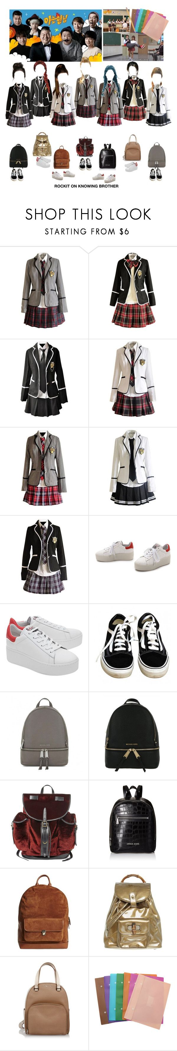"""«KNOWING BROTHER» ROCKIT [BLAST OFF DEBUT]"" by cw-entertainment ❤ liked on Polyvore featuring Ash, Vans, MICHAEL Michael Kors, Dries Van Noten, Armani Jeans, Timo Weiland, Gucci, Miu Miu and Paper Mate"