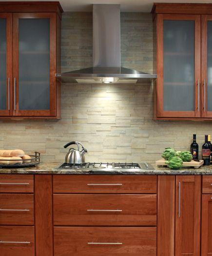 Ledgestone Kitchen Backsplash: A Porcelain Ledgestone Tile Provides A Durable But