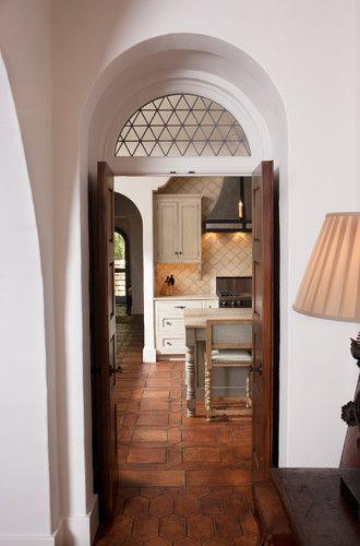 : Kitchens, The Doors, Tile Design, Idea, Thomas Thaddeus, Arches, Floors Design, Transom Window, Spanish Style