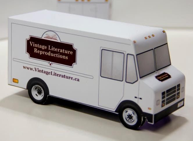 this nice model of a delivery truck that occupies only one sheet of paper is offered by vintage. Black Bedroom Furniture Sets. Home Design Ideas