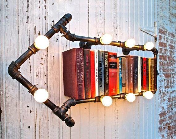Industrial Pipe Bookshelf