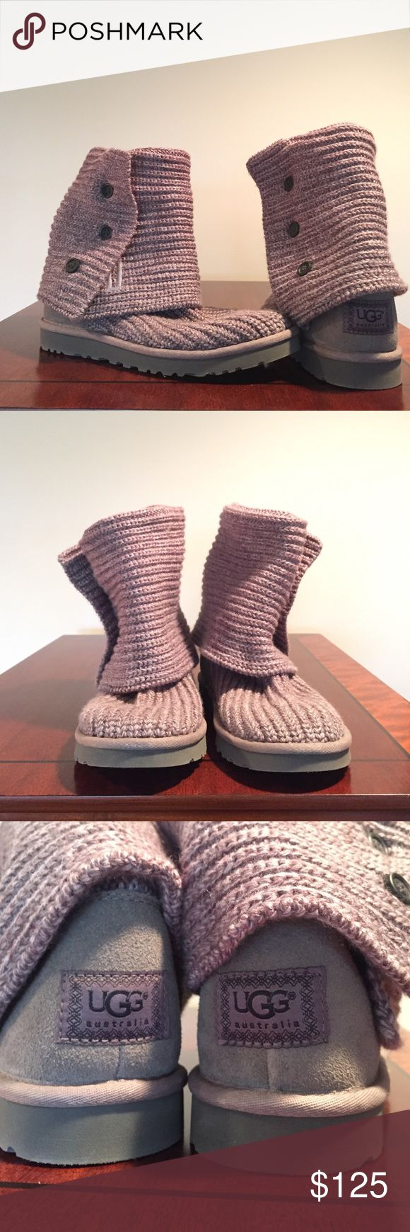 -like new- UGG Classic Cardy Grey Size 8 -like new- UGG Classic Cardy Grey Size 8 - worn twice - authentic UGG Shoes Winter & Rain Boots
