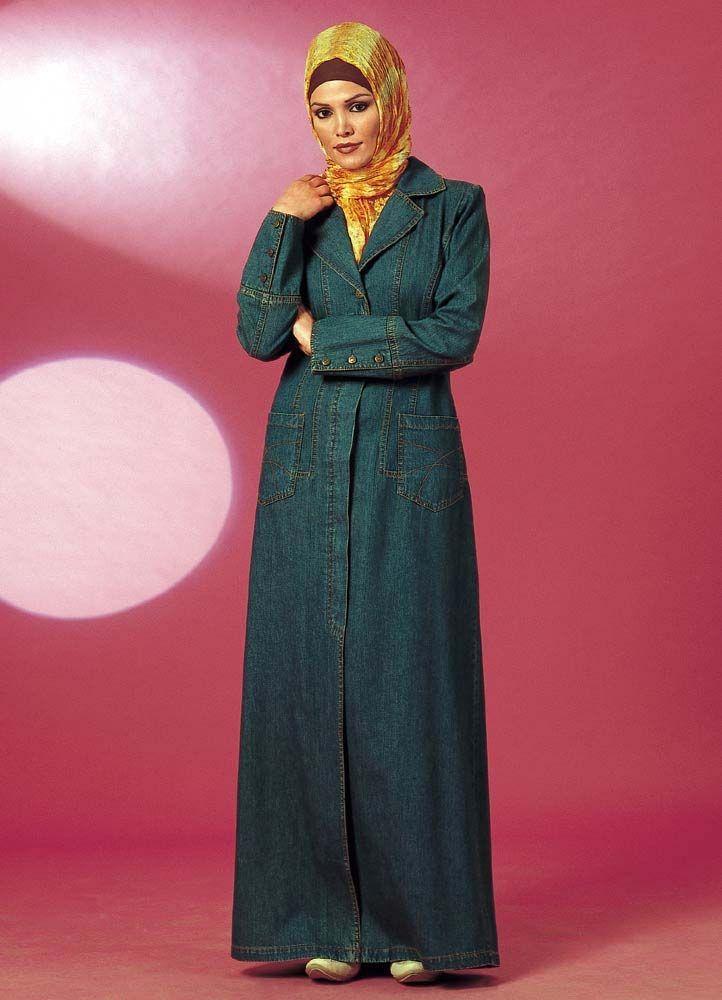 | islamic women's denim abaya