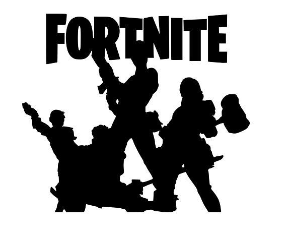 Fortnite With Characters Svg File Image Editing Software Silhouette Cricut Free