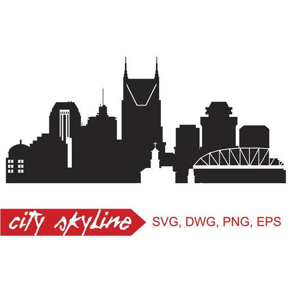 Nashville Vector Skyline Nashville Svg Silhouette Svg Dxf Etsy Nashville Skyline Skyline Silhouette Silhouette Png