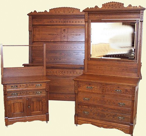 Antique Bed Set, Oak Eastlake Spoon Carved Bed Set, Vintage Bedroom  Furniture, Up - 38 Best Eastlake Furniture Images On Pinterest Antique Furniture