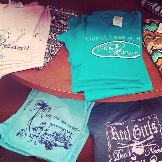 South Coast Trends shirts are now available in Hitchcock/Bayou Vista, Texas at Southern Shores Home Decor!