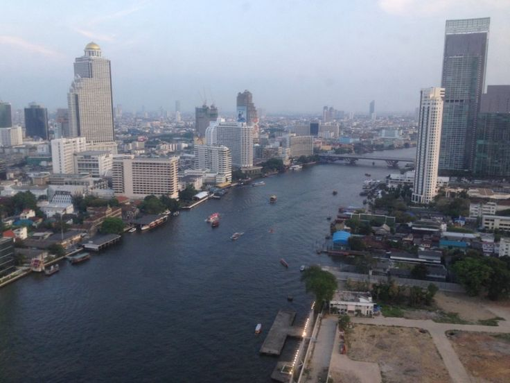 Room view at the Millennium Hilton, Bangkok