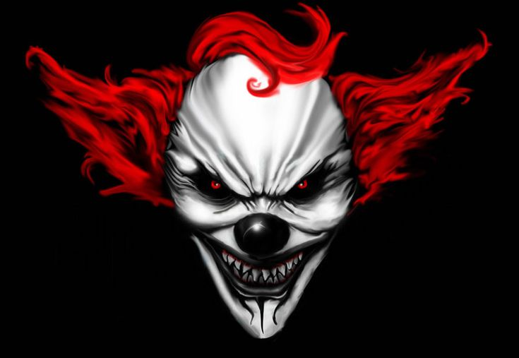 scary clown faces   Digital Drawing: 50 Scary Clowns that Will Haunt in Your Dreams