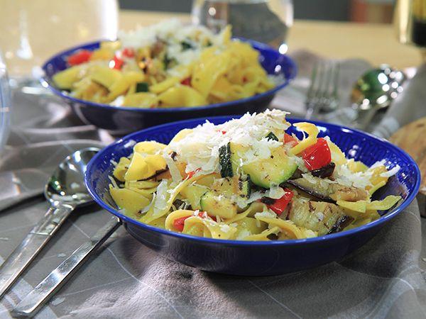 Pasta med grillade grönsaker | Recept.nu