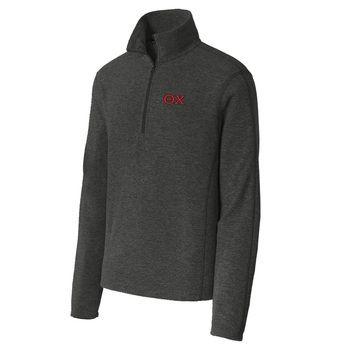 Theta Chi Charcoal 1/4-Zip Microfleece Jacket