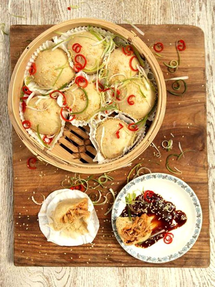 Jamie Oliver's Barbecued chicken dim sum with an awesome fiery marinade