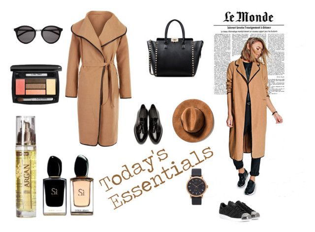 Today's Essentials by profumeriesabbioni on Polyvore featuring bellezza, Yves Saint Laurent, Marc by Marc Jacobs, Valentino, Boohoo, Cameo Rose, Burberry and adidas