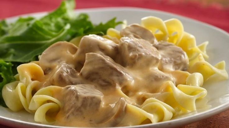 Stroganoff, once only weekend special can now be served weeknights thanks to slow cooking.