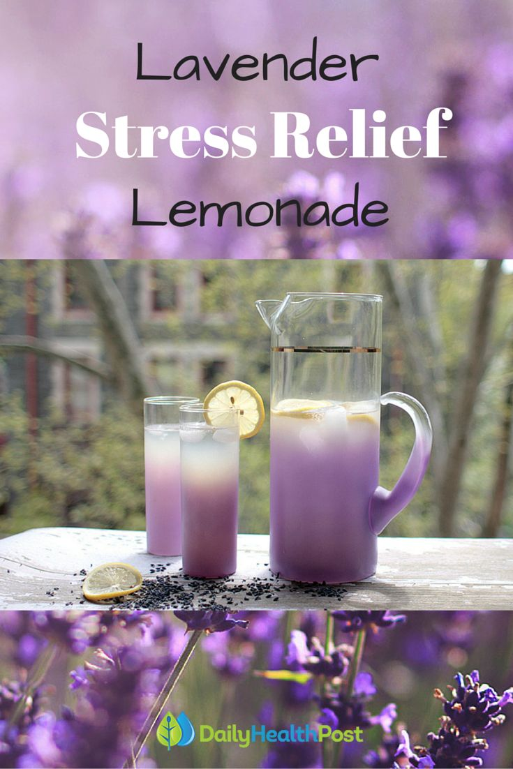 Lavender Lemonade. Stress Relief. Stress Management.