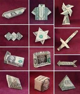 Free Money origami Folding patterns for men - Bing Images