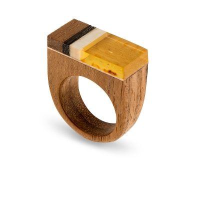 Amberwood ring for W.Kruk