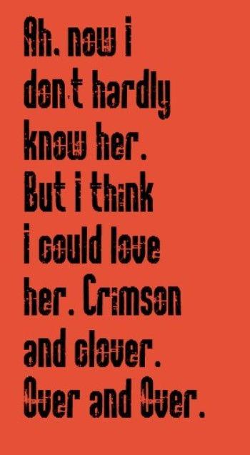 Joan Jett & The Blackhearts - Crimson & Clover - song lyrics, songs, music lyrics, song quotes, music quotes