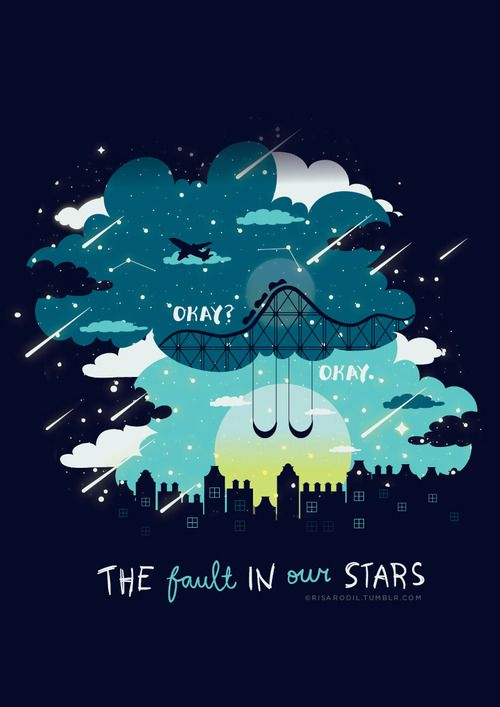 The Fault in Our Stars // John Green (art: Risa Rodil)