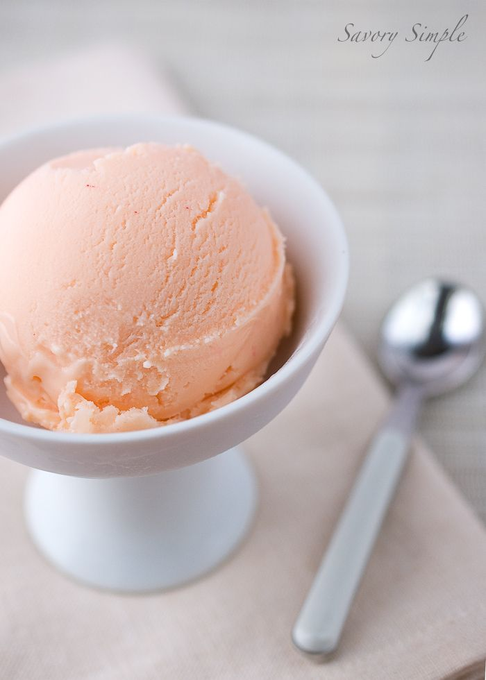 Grapefruit Curd Ice Cream - Savory Simple