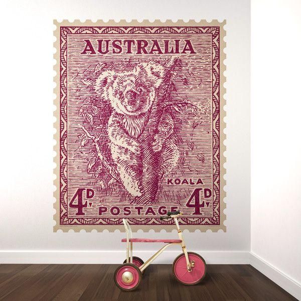 Koala Australian postage stamp wall stamp