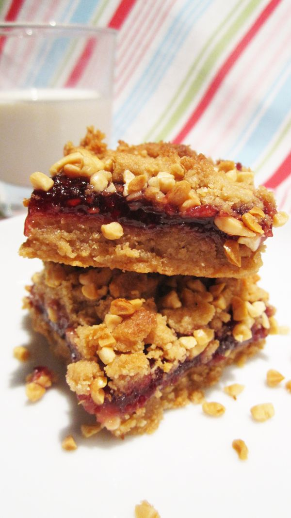 Peanut Butter & Jelly Bars. Vegan blogger Vegangela uses coconut oil ...